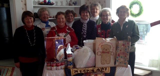 Local Bridge Group donates to Food Pantry.